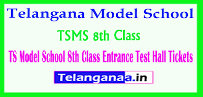TS Model School 8th Class Entrance Test  Hall Tickets Download