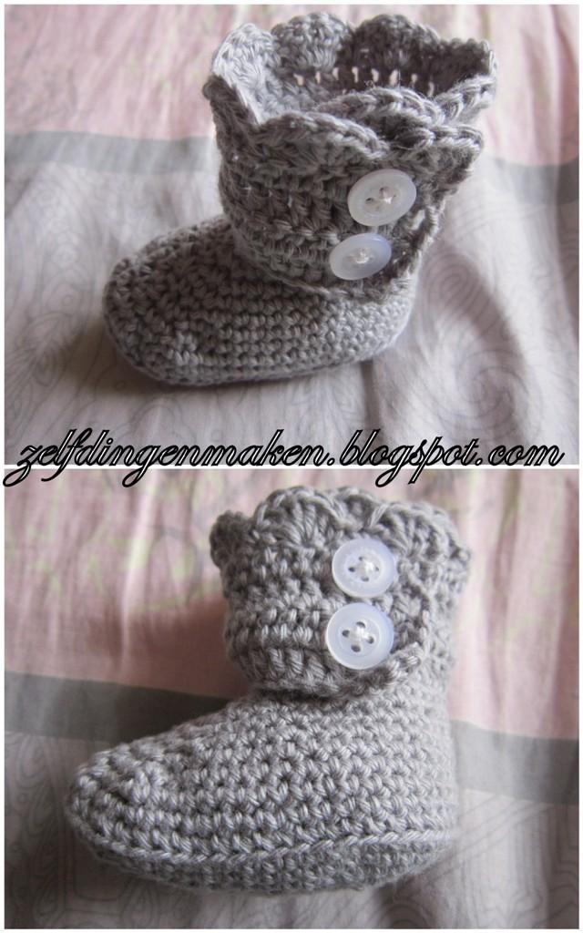 Zelf Dingen Maken Gehaakte Baby Laars Crochet Baby Boot