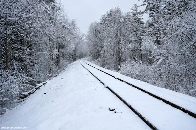 Vías del Tren Fantasma en New Hampshire