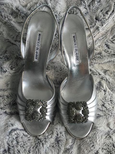 Manolo Blahnik slingback Cassia heels Hangisi Carrie Bradshaw Nordstrom Rack Clear the Rack