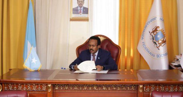 الرئيس الصومالي  ينعى الرئيس التونسى الراحل الباجى قايد السبسى