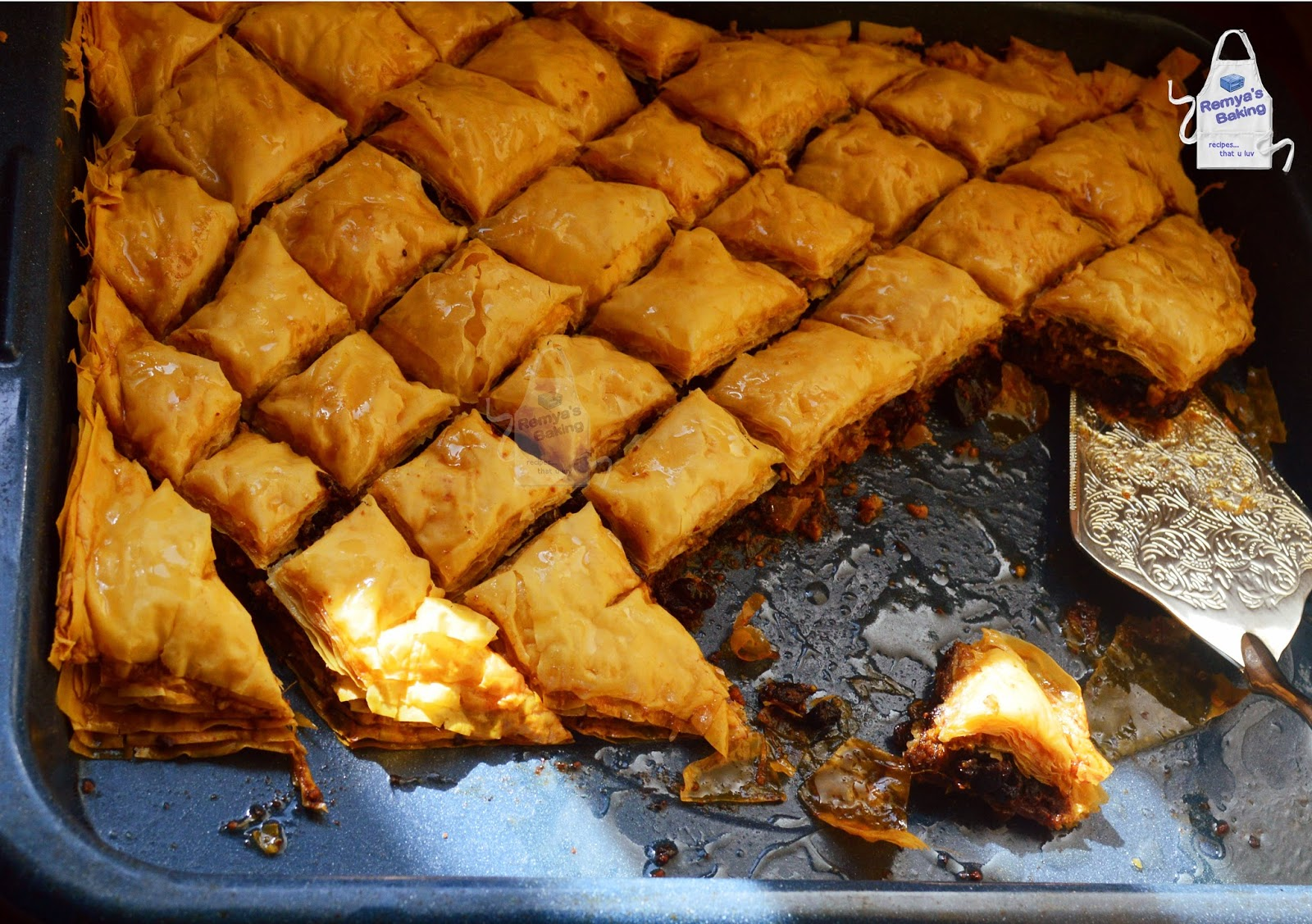 baklava with cranberry and