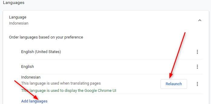 Mengubah Bahasa di Google chrom