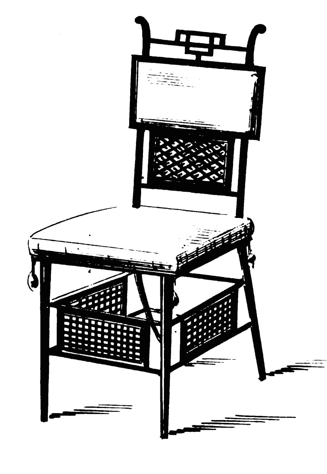 19th Century Historical Tidbits: 1880 furniture designs