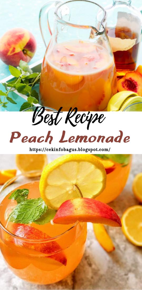 Peach Lemonade #healthydrink #easyrecipe #cocktail #smoothie