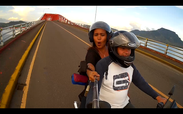 robimy zdjęcia najdłuższego mostu na Filipinach