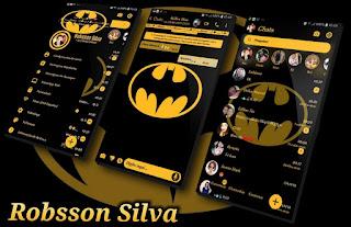 RC Galx Batman Yellow Theme For YOWhatsApp & Fouad WhatsApp By R̳o̳b̳s̳s̳o̳n