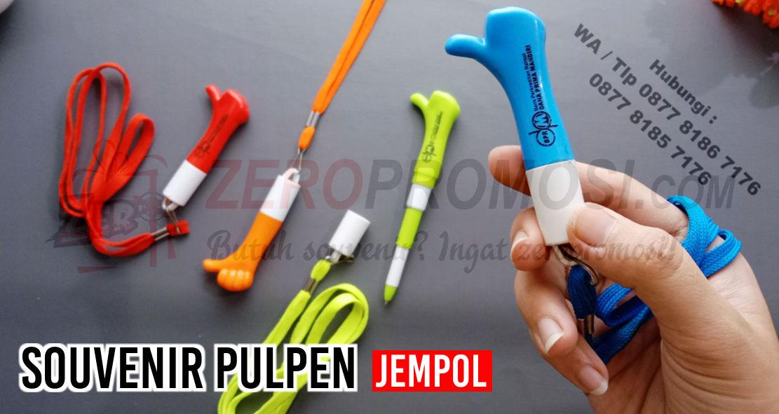 Jual Souvenir Pulpen Jempol, Pen jempol, Souvenir unik, pen tarik bentuk jempol custom logo