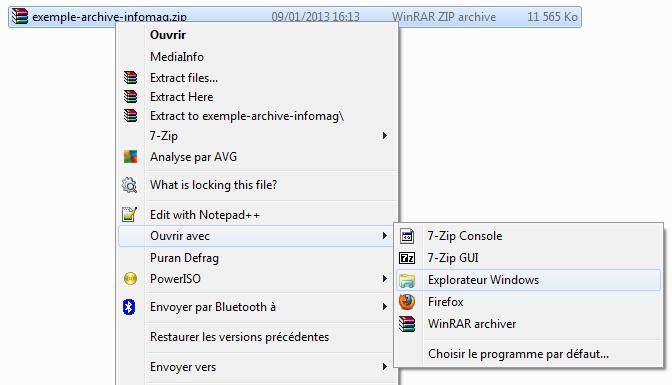 Ouvrir Fichier Zip Windows 10