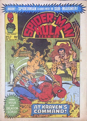 Spider-Man and Hulk Weekly #27, Kraven and Tigra
