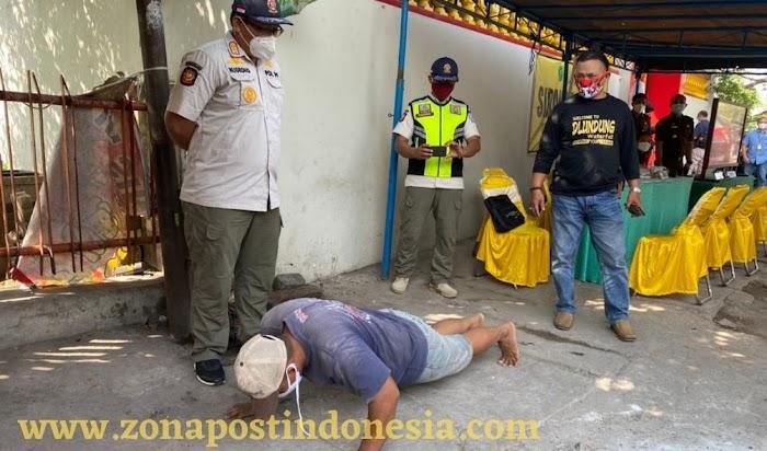 Kapolres Tanjung Perak Pimpin Operasi PPKM Darurat Diikuti Sidang Di Tempat