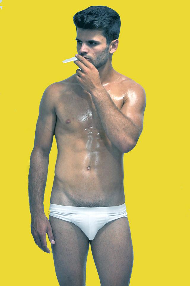 O modelo de 20 anos representa Joinville no Mister Santa Catarina 2017. Foto: André Florêncio