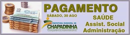 Chapadinha: Prefeitura paga neste sábado, restante dos servidores municipais, referente a agosto.