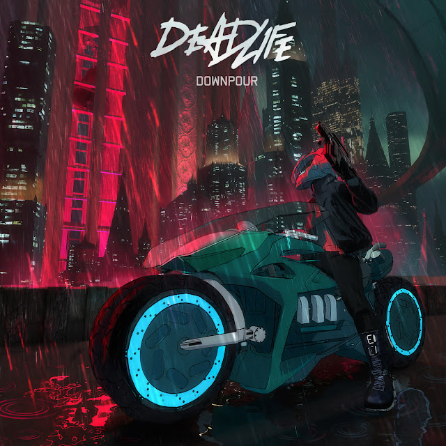 Deadlife, Downpour - Cyberpunk Illustration by Tony Skeor
