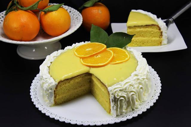 Tarta de naranja Thermomix