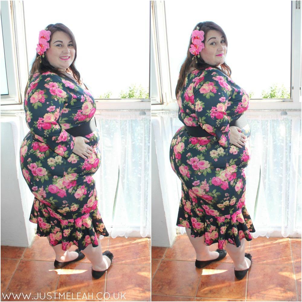 Lady Voluptuous Bellatrix plus size dress in Rose
