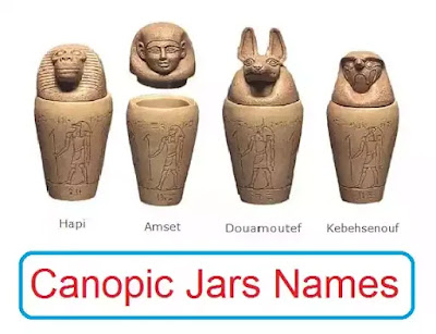 Canopic jars names