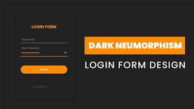 Dark Neumorphism Login Form Design