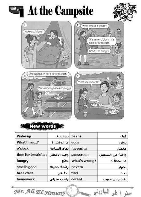 جميع مذكرات اللغة الانجليزية لمستر على الهارونى للمرحله الابتدائية ترم اول 2018  - بوكلت