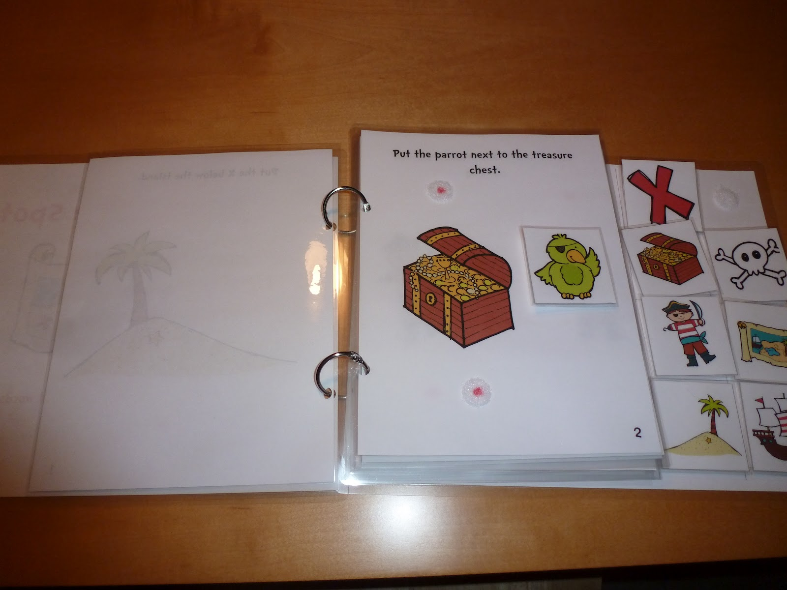 Classroom Freebies Too Pirate Themed Interactive Book Positional Words And Phrases