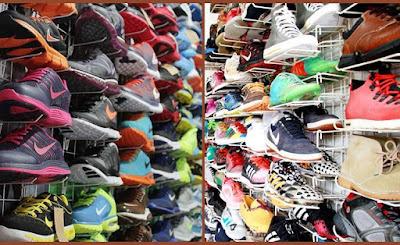 grosir sepatu import kota Medan