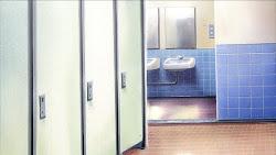Anime Landscape: Anime Bathroom Background
