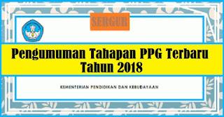 Pengumuman Resmi Jadwal Pelaksanaan dan Penetapan Peserta PPG Dalam Jabatan Tahun 2018