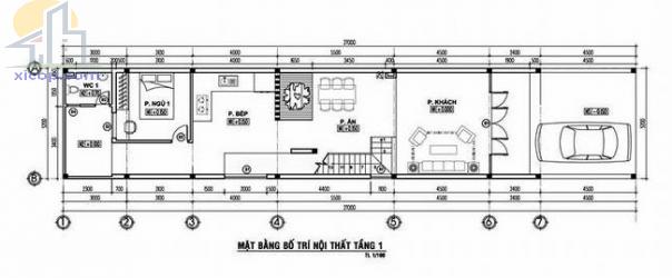 Mẫu nhà 1 trệt 1 lầu đẹp 5×20 mái thái giá rẻ