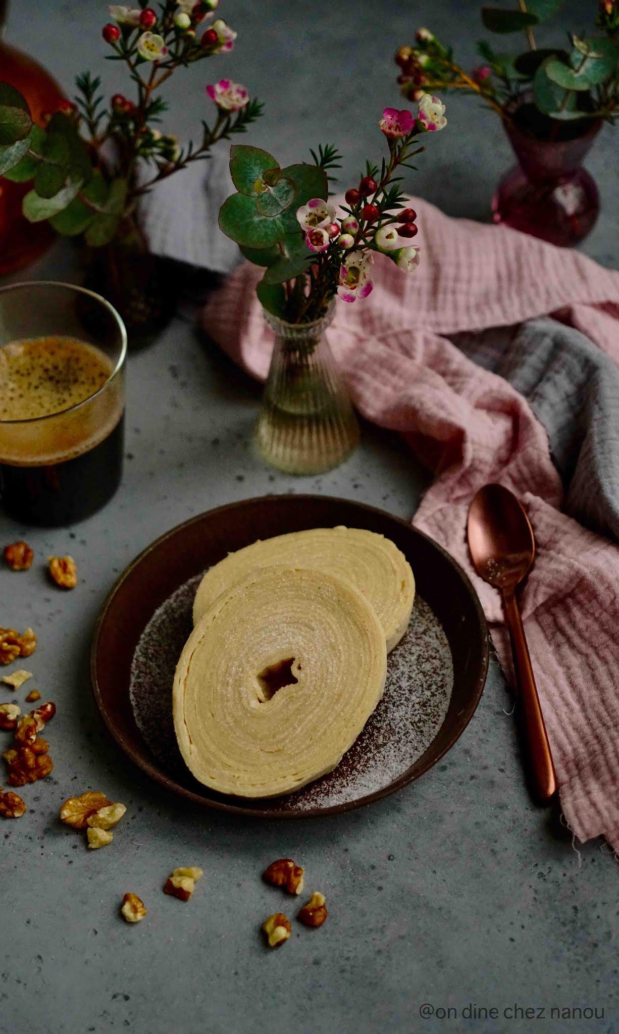rouleaux de crêpes , farine d'épeautre , lait végétal , chandeleur , gâteau de crêpss