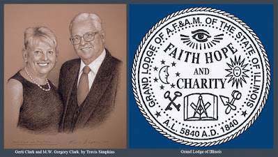 Gerti Clark and M.W. Gregory L. Clark. Past Grand Master. Grand Lodge of Illinois. by Travis Simpkins
