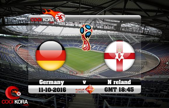 مشاهدة مباراة ألمانيا وإيرلندا الشمالية اليوم 11-10-2016 تصفيات كأس العالم