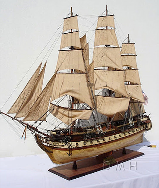 1797 USS Constitution Old Ironsides Model Ship