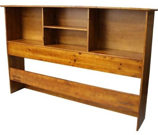 wood bookcase headboard