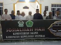Kemenag Kepulauan Anambas Sosialisasi Pelayanan Haji ke Desa-desa