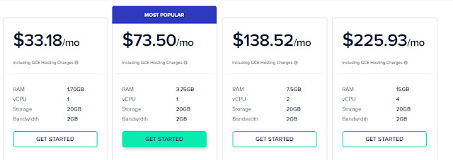 google cloud pricing