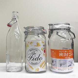 保存瓶|左:ボルミオリ・ロッコ スイングボトル/中:ボルミオリ・ロッコ フィドジャー/右:星硝㈱ セラーメイト 密封びん