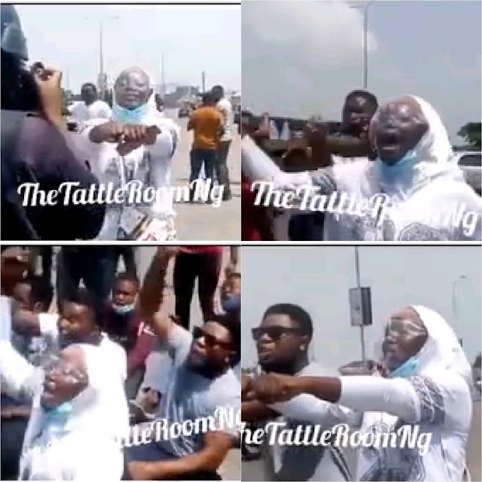 A LADY BOLDLY WALKED TO POLICEMAN AND AAKED TO BE ARRESTED