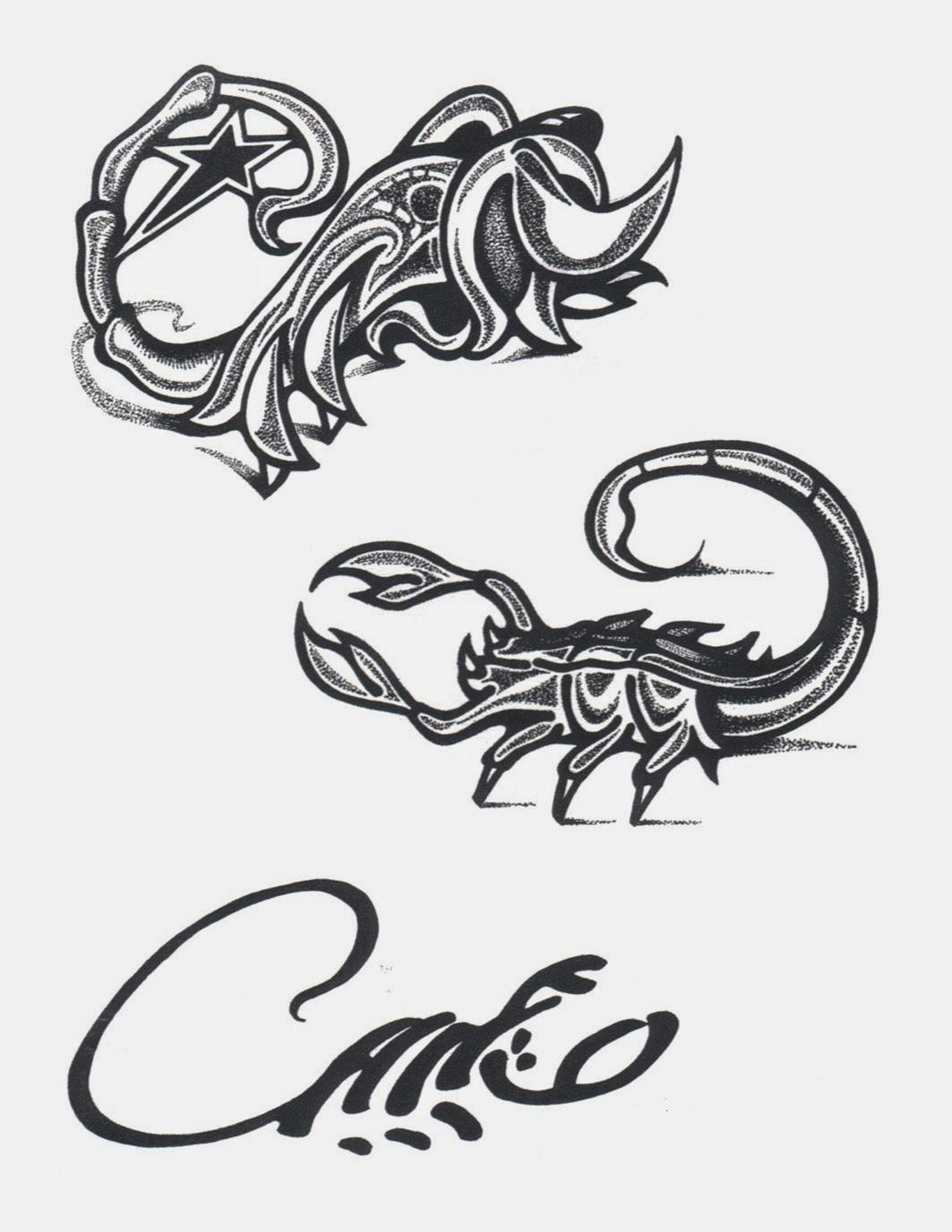 Scorpions tattoo stencil