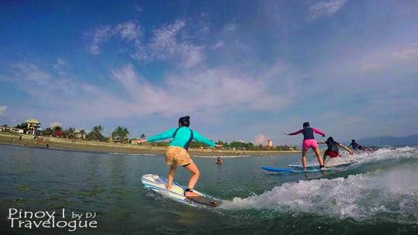 Ladies' turn to surf