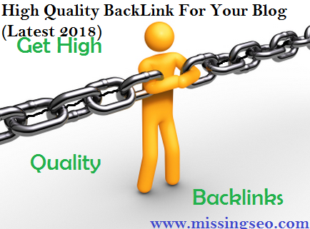 High Quality Backlink-www.missingseo.com