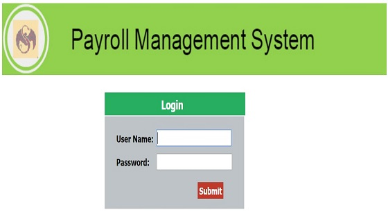 Payroll Management System Project in Asp.Net - Login Page