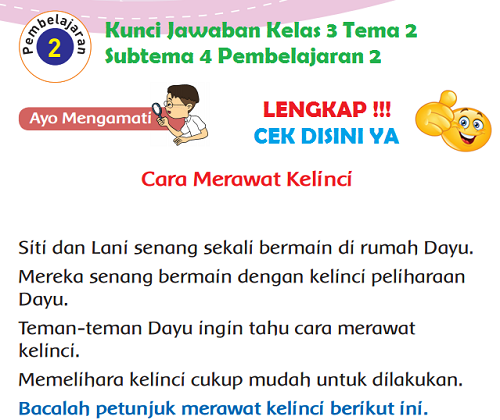 Lengkap Kunci Jawaban Kelas 3 Tema 2 Subtema 4 Pembelajaran 2 Kunci Jawaban Tematik Lengkap Terbaru Simplenews