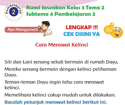 Kunci Jawaban Kelas 3 Tema 2 Subtema 4 Pembelajaran 2 www.simplenews.me