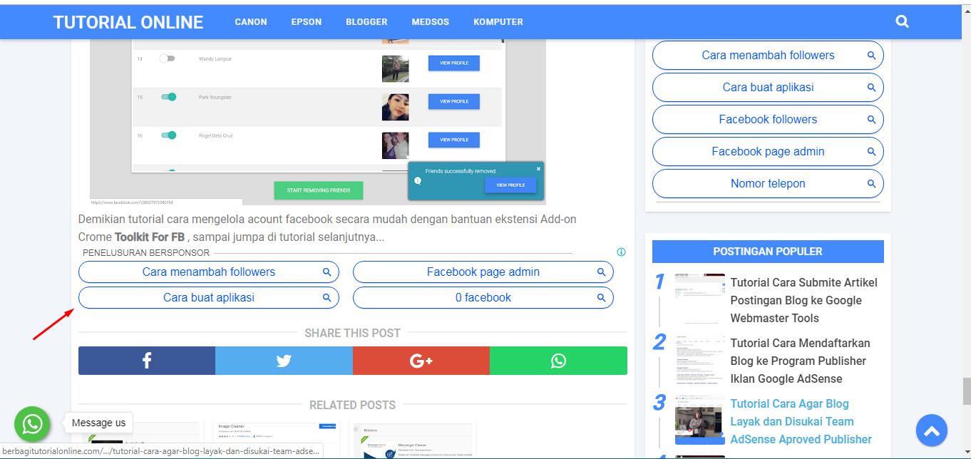 Iklan Google AdSense Type Link