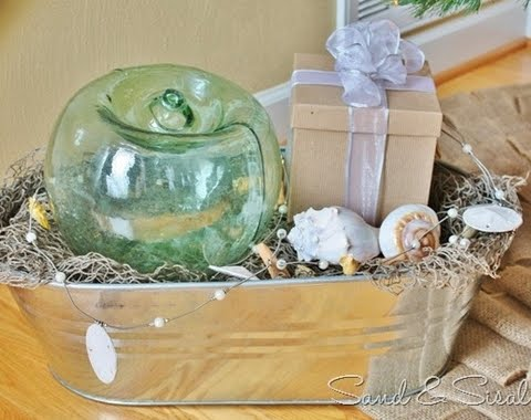 Christmas vignette with glass float