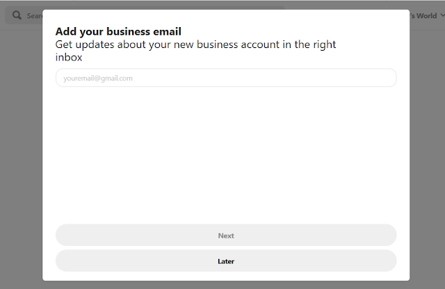 How To Add/Create Or Upgrade To A Free Business Account On Pinterest - Step By Step