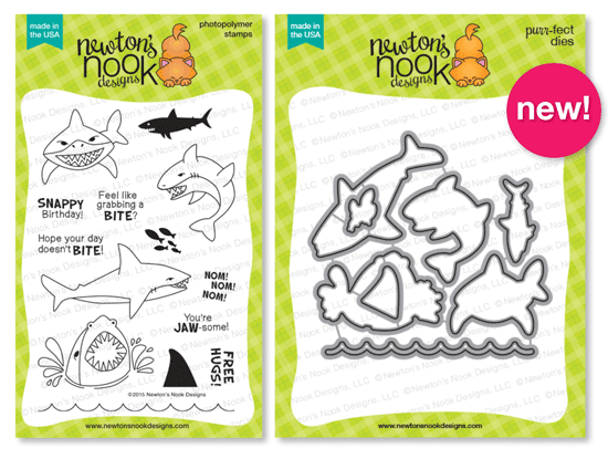 Shark Bites Die Set | Newton's Nook Designs #newtonsnook #sharkweek