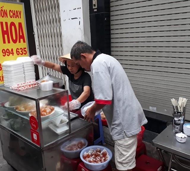 Bánh cuốn chay hiếm hoi ở Cô Giang - Phú Nhuận