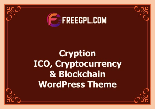 Cryption - ICO, Cryptocurrency & Blockchain WordPress Theme Nulled Download Free