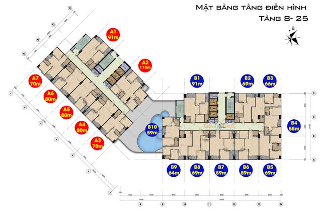 Thiết kế đẳng cấp của căn hộ chung cư 99 Trần Bình.